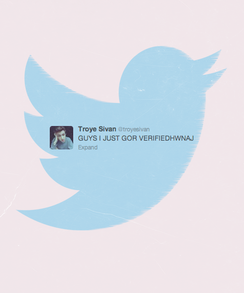 Congrats, Troye, on getting verified!
