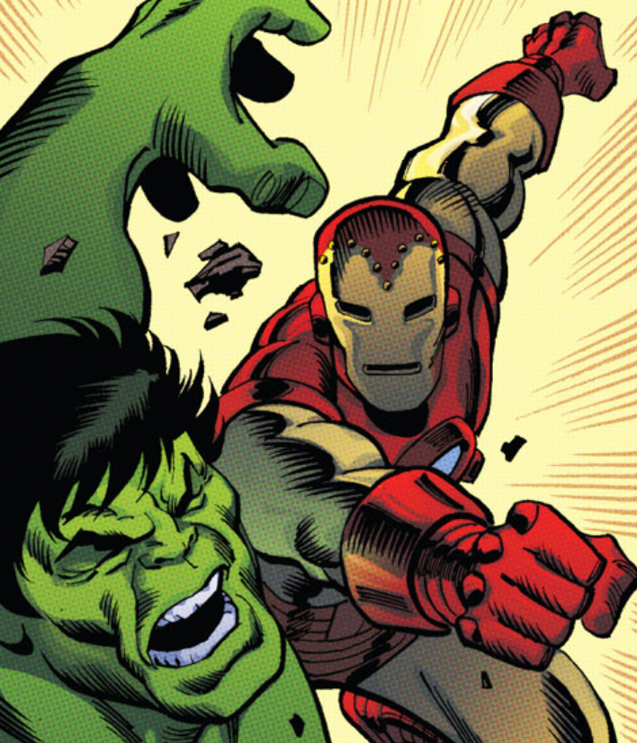 comicbookartwork:  IRON MAN VS. THE HULK