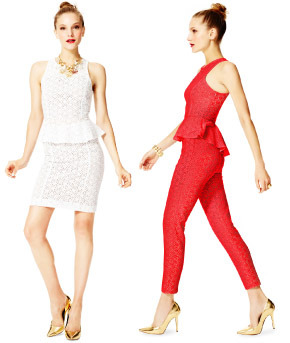 Lace + Peplum? Ladylike chic! Hunter's collection was perfection! Get the scoop from the last episode from our buyer Caprice Willard, only on mBLOG.