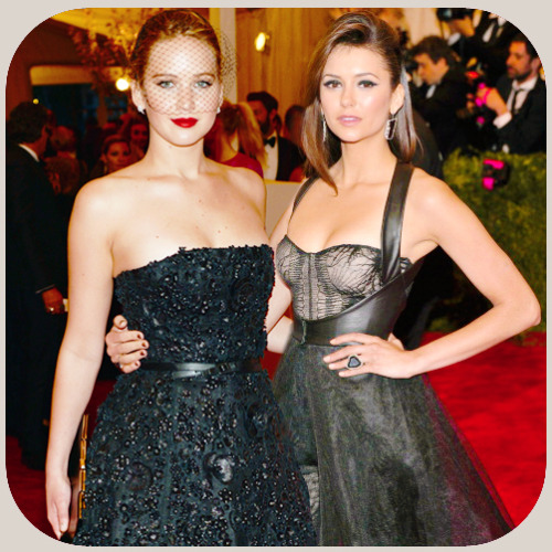 Met Ball- Jennifer Lawrence & Nina Dobrev