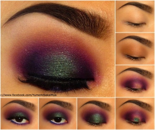 make-up-is-an-art:  Sugarpill Explosion Tutorial by Yumemi Sakai. click through for products used!
