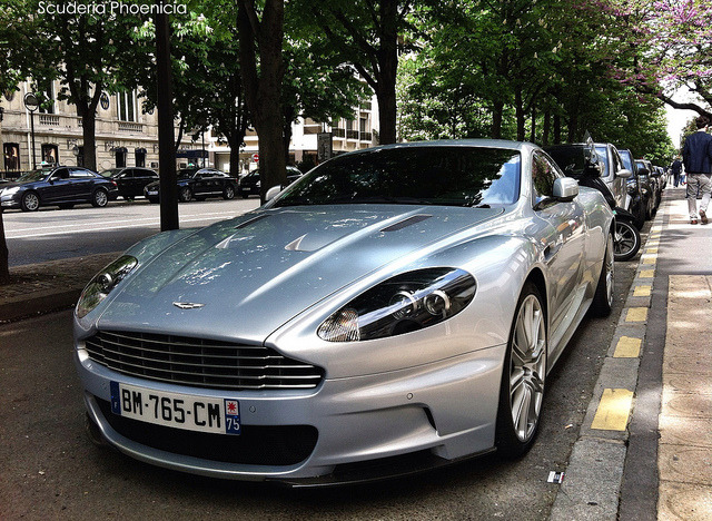 gdbracer:  Avenue Montaigne by Scuderia Phoenicia on Flickr. Classy Aston