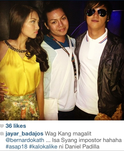 johnandchandria:  LOL at the caption. I swear at first glance, I repeat: FIRST glance only, I actually thought he was bebe boy. KALOKA. xx