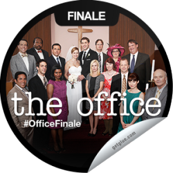 I just unlocked the The Office Series Finale sticker on GetGlue                      4428 others have also unlocked the The Office Series Finale sticker on GetGlue.com                  The staffers give their final interviews and past and present employees gather for the big wedding. Thanks for tuning in to the series finale of The Office tonight! Share this one proudly. It's from our friends at NBC.
