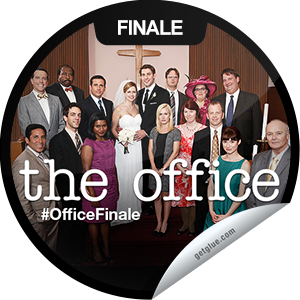 I just unlocked the The Office Series Finale sticker on GetGlue                      10758 others have also unlocked the The Office Series Finale sticker on GetGlue.com                  The staffers give their final interviews and past and present employees gather for the big wedding. Thanks for tuning in to the series finale of The Office tonight! Share this one proudly. It's from our friends at NBC.