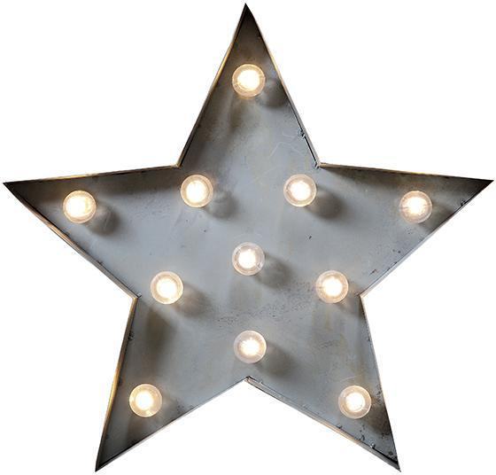 exactlypinkfun - Marquee Light-Up Star Eye-catching accent lighting in a media room, hallway or staircase landing. This star-shaped metal wall...