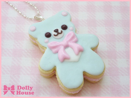 shop-cute:  Sweet Cookie Bear Necklace $13.95