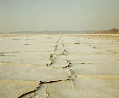 workman:  whitehotel: Richard Misrach, Encrusted tracks, Bonneville salt flats (1992)