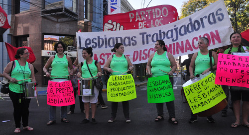 fuckyeahmarxismleninism:  May Day 2013 - Asuncion, Paraguay Lesbian workers march on May 1, 2013.