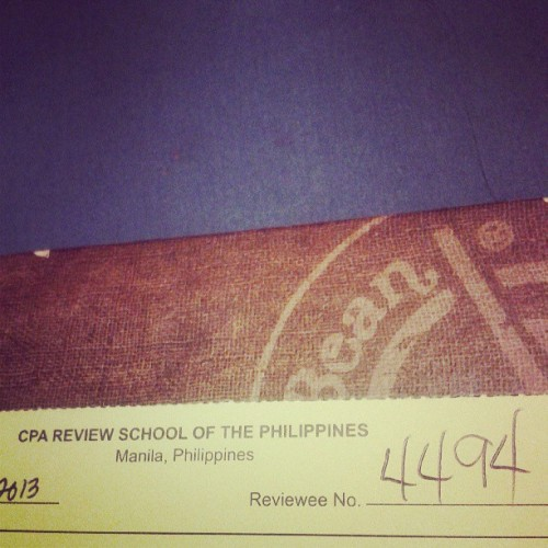 I enrolled for the CPA review today. Ganbatte!