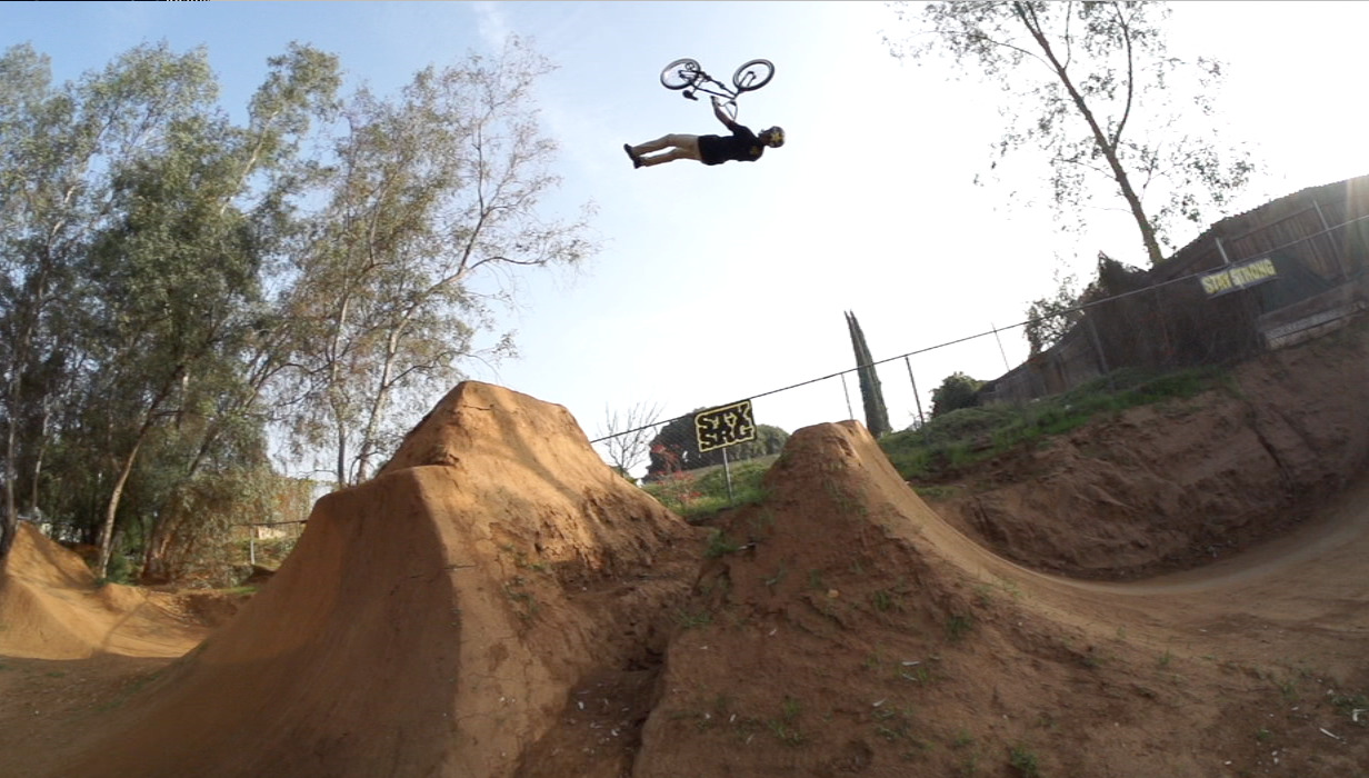 Click the photo and check out TJ Ellis slaying dirt jumps on Crooked World!