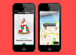 Pizza Compass by Daniel Blackman and Oak Studios is a new Avenir Next-friendly app that features a spinning slice of pie that will point you towards the nearest pizza purveyor. The app provides a ton of useful information including opening hours, ratings, maps, and even reviews from fellow pizza lovers. You can download your pizza app now from the iTunes store.via uncrate