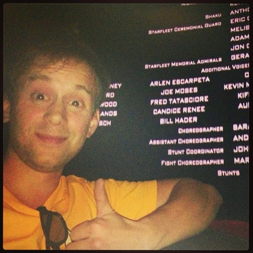thejoemoses:  Me with my 1st movie credit! Live long & prosper! @startrekmovie #startrek