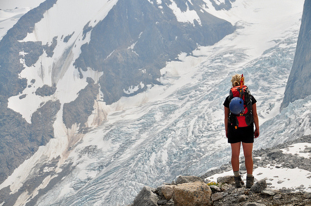 Bugaboo Glacier on Flickr.My girlfriend, awestruck by the glaciers of British Columbia's Bugaboo Provincial Park.