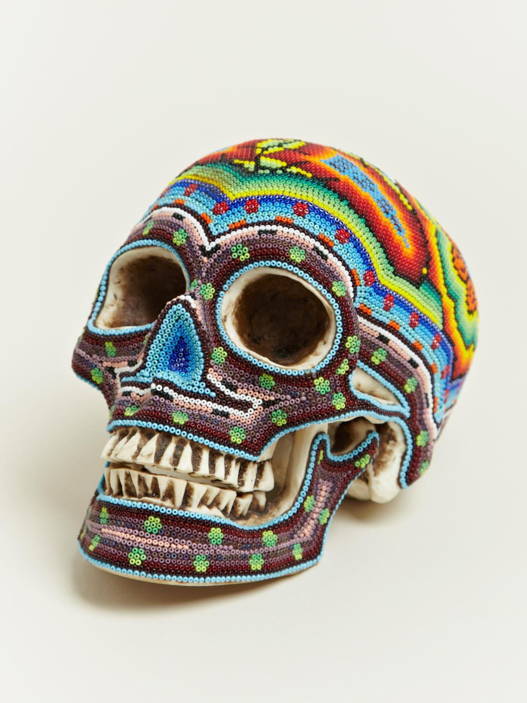 (via Our Exquisite Corpse Large Beaded Skulls | LN-CC)