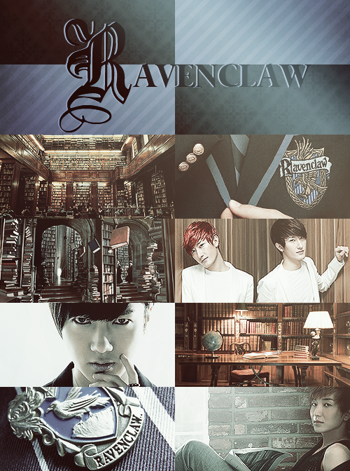 Super Junior x Hogwarts Houses » Ravenclaw  Twins Zhou because why not.