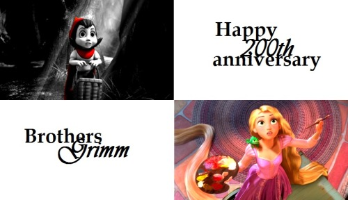 animationme:  Little Red Riding Hood and Rapunzel are just two examples of the amazing fairytales written by the Brothers Grimm. If it weren't for them, Once Upon A Time perhaps wouldn't exist, nor majority of the disney movies.