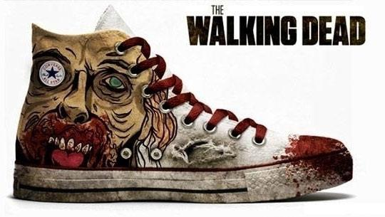 The Walking Dead sneakers. Awesome in so many ways!