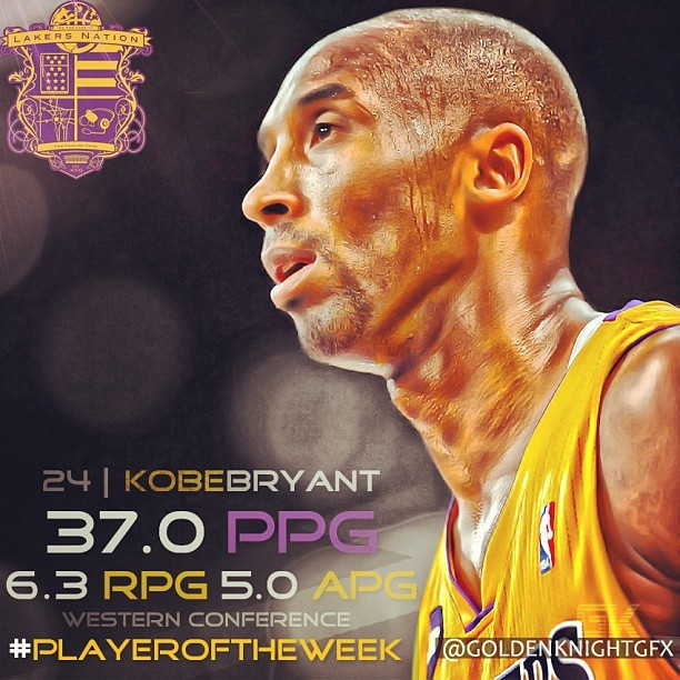 Kobe Bryant - Kobe Bryant once again named Western Conference Player of the Week!