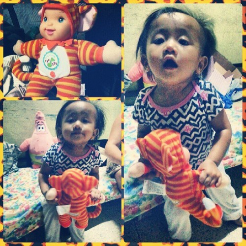 Thank you lola cora. :D #talkingdoll #happybaby