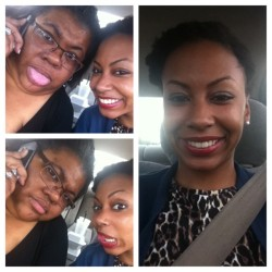We can't get it together smh LOL! My mom and I on Mother's Day!