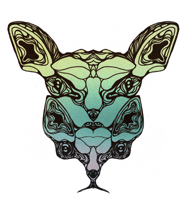 Most likely getting this printed on a tee in the next two weeks. Rorschach kitty.