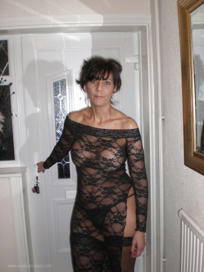dianajameson:  Sexy MILF wearing see thru dress