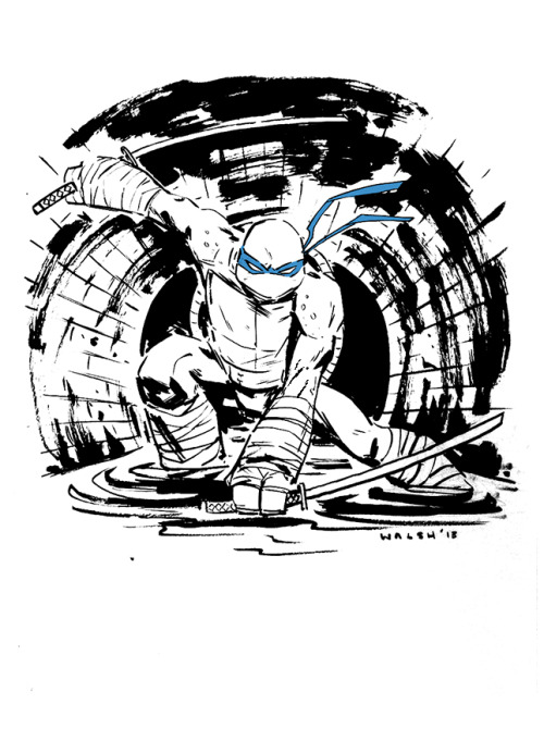 Leonardo (TMNT) C2E2 commission. I ended up drawing a ton of turtles and related characters over the weekend. Will post more throughout the week!