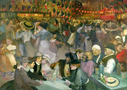 poboh:  Ball On The 14th July, Theophile Alexandre Steinlen. French Art Nouveau Painter, Printmaker (1859 - 1923)  .