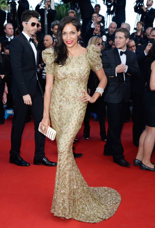 Rosario Dawson in Marchesa (Cannes)