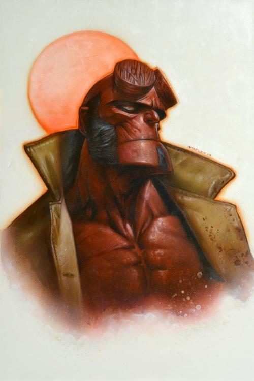 brianmichaelbendis:  Hellboy by Greg Staples