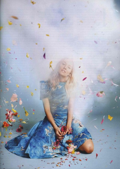 officialrodarte:  Sienna Miller wears Rodarte's SS12 Dress in British Vogue; styled by Francesca Burns (photo by Ryan McGinley).