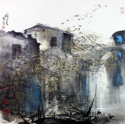 geritsel:  Liu Maochan - a Chinese painter with a touch of French impressionism à la Monmartre. Gorgeous.