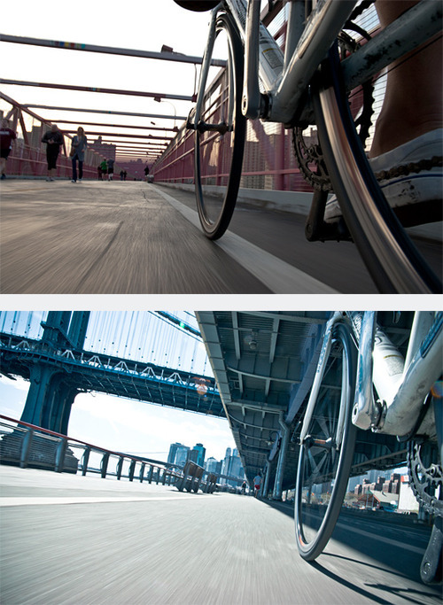 Photographer Tom Olesnevich created this awesome series of photos while riding in New York City. The photos were taken with a Nikon D40 attached to the bike's frame with a GorillaPod and triggered with a remote, Olesnevich told PetaPixel. NYC by Bike: Photo Series by http://www.tomolesnevich.com/
