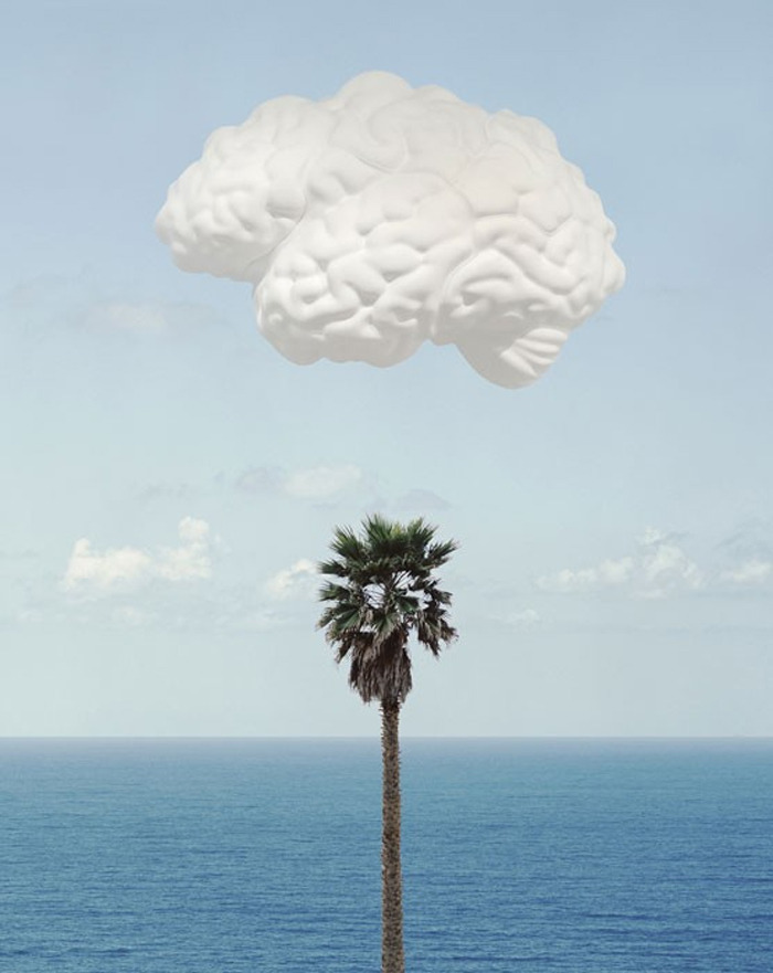 2headedsnake:  John baldessari 'Brain/Cloud', 2009