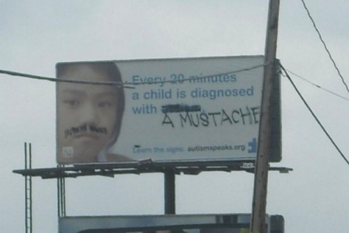 Diagnosed with a mustache