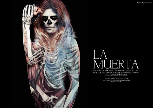 facticemagazine:  FACTICE MAGAZINE #13 - THE MAGNUM ISSUE CREDITS//LA MUERTA Photography by Nian Canard  Illustration by Tamara Alves  Model: Carol DOWNLOAD THIS ISSUE FOR FREE : http://www.facticemagazine.com/magazine/telechargementmag/download.php