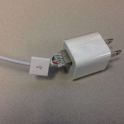 This is what happens when you don't buy genuine Apple cables