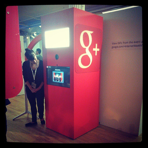 Google Plus GIF booth at #iwny