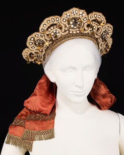 late 19th century Russian wedding headdress