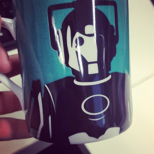 CYBERMAN IN TEAL!! I want to walk around the office and show off! #doctorwho #drwho #cyberman #gifted