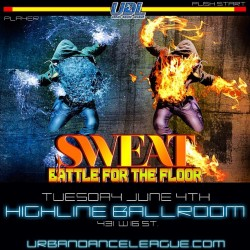 My BDAY PARTY IS OFFICIALLY on MY BDAY JUNE 4th, #SweatParty is BACK with our 1st ever dance battle via 1 year anniversary of @urbandanceleague .       Now this is a live dance battle, And show with music by @geekchicdjs @iamdjjuss  & @djcommish .  Afterwork 6-11pm for tix http://j.mp/10jbjVr