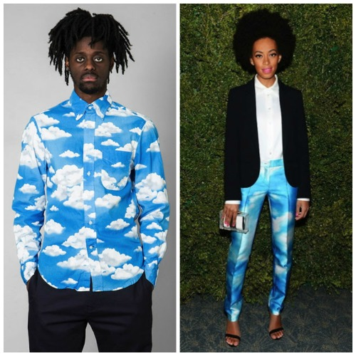 Fashion Forecast: Blue Sky with Clouds. The sky/cloud print.  How do you like it? More pics and my take here after the click: http://www.africanprintinfashion.com/2013/04/fashion-forecast-blue-sky-with-clouds.html