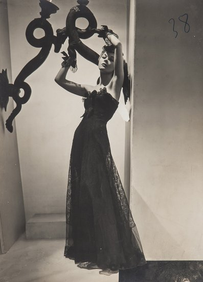 Horst P Horst Fashion study of Chanel Dress for Vogue 1938