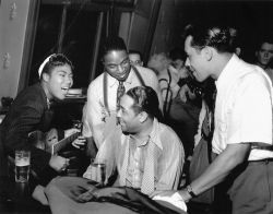 awesomepeoplehangingouttogether:  Sister Rosetta Tharpe, Duke Ellington and Cab Calloway
