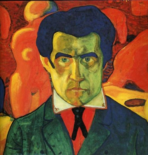 artmastered:  Kazimir Malevich, Self Portrait, 1912