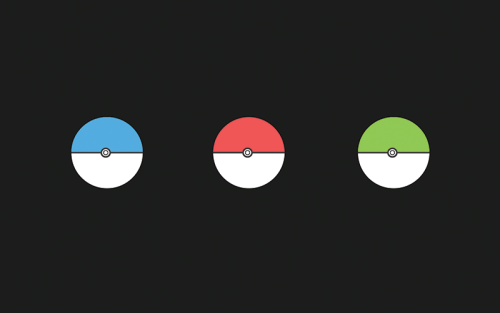 A simple Pokeball wallpaper. http://wallbase.cc/wallpaper/2747874
