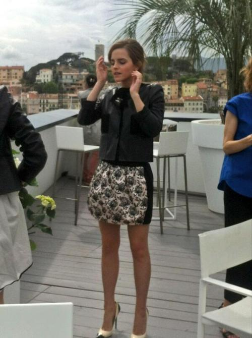 Emma Watson doing press for The Bling Ring during the 66th Cannes Film Festival (May 15).
