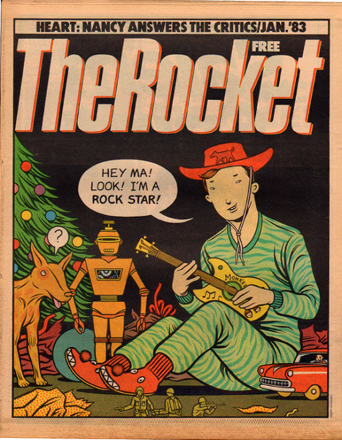 Happy Xmas from The Rocket magazine, 1983
