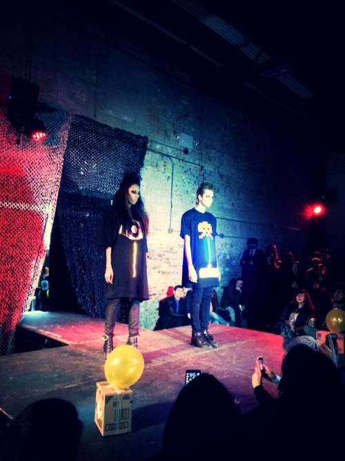 hi guys! I finally did my fashion performance show at Williamsburg Fashion WeekEnd Last night !! It was a great show !!! This was the beginning :D!! Models: Jarret Edward and Nikki Phillip  Make up Artist: MIDORI ARAKI !  info@marcosantaniello.com for any info about my clothing :D https://www.facebook.com/MarcoSantanielloClothing  I should get many pictures and video of the show really soon!!!